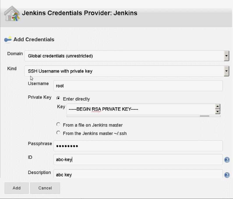 New Jenkins Job - Credentials For Source Code Management
