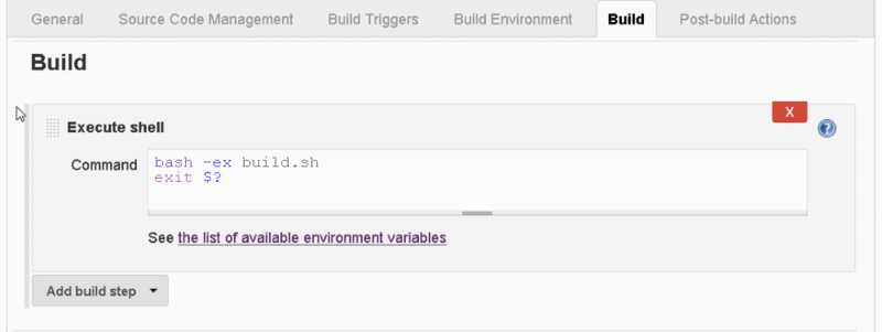 "New Jenkins Job - Add ""Execute Shell"" Build Step"